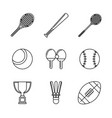white background with monochrome set of sports of vector image vector image