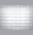 white brick wall texture background design vector image