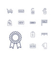 13 tag icons vector image vector image