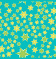 azure tiles seamless pattern fabric colorful vector image