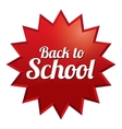 Back to school price tag Sticker with texture vector image vector image