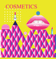bright poster fashion cosmetics advertising retro vector image