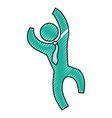 businessman pictogram symbol vector image vector image