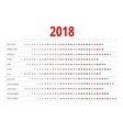 Calendar for 2018 vector image vector image