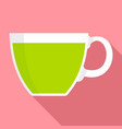cannabis tea cup icon flat style vector image