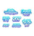 Christmas and New Year labels set vector image vector image