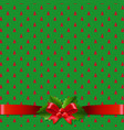 christmas background with holly berry bow vector image vector image