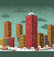 city in perspective winter vector image