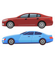 city transport cars models vehicles automobile vector image vector image