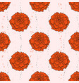 color seamless pattern marigold flowers vector image vector image