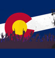 colorado state flag with audience vector image vector image