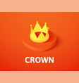 crown isometric icon isolated on color background vector image