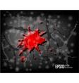dark scratch grunge background vector image vector image