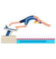 diving diver symbol swimming man vector image vector image