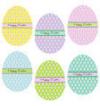 easter eggs with flower patterns vector image vector image