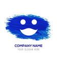 emoji icon - blue watercolor background vector image