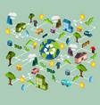 environmental protection scheme vector image vector image