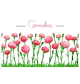 Flower seamless border vector image vector image