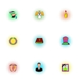 Funeral services icons set pop-art style vector image vector image