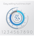 futuristic digital time easy editing scale vector image