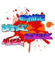 graffiti elements background vector image vector image