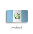 guatemala independence day greeting card vector image