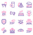 hierarchy human needs linear color icon set vector image