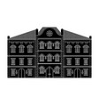 houses old european buildings black drawing vector image vector image