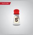 isolated condiment flat icon saltshaker vector image
