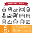 Line icons set 15 vector image vector image