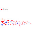 live stream likes background vector image vector image