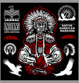 native american indians apache tribes set of vector image vector image
