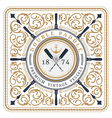 Nautical double paddle retro card vector image vector image