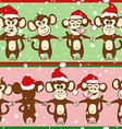 New Year Seamless Pattern With Monkey Holding vector image vector image