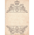 old paper texture with royal pattern vector image