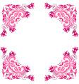 ornate pink frame vector image vector image