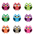 Owls vector image