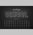 pencil sketch font and round alphabet chalk vector image vector image