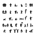 people in various poses vector image