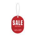 price tag sale best offer 60 off image vector image