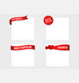 promotion and advertising tags vector image