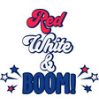 red white boom on white background vector image vector image