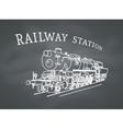 Retro Steam Locomotive vector image vector image