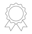 rosette award guarantee premium win icon vector image