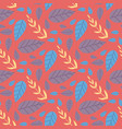 seamless flat pattern cartoon tropical leaves vector image