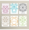 Set bright abstract shapes on a white background vector image vector image