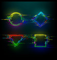 set futuristic glitch geometry shapes in vector image vector image