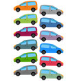 set of multicolored car vector image