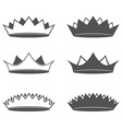 set six crown isolated vector image vector image