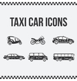 set taxi icons for web sites presentations vector image